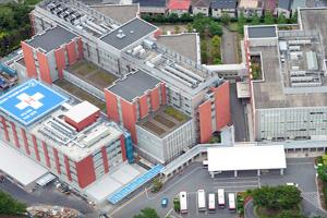 女子医大八千代医療センターの航空写真