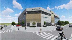 千葉NT中央駅 北口ロータリー医療モールの外観パース