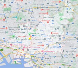 船橋医療センター側 居抜き物件の周辺調査データ:周辺マップ