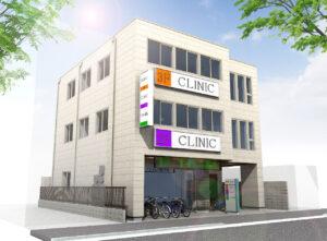 東船橋の新築医療モール:外観パース1
