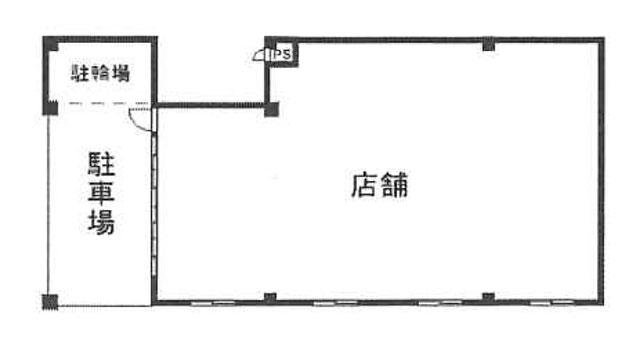 市川駅徒歩5分の好立地物件の間取り図