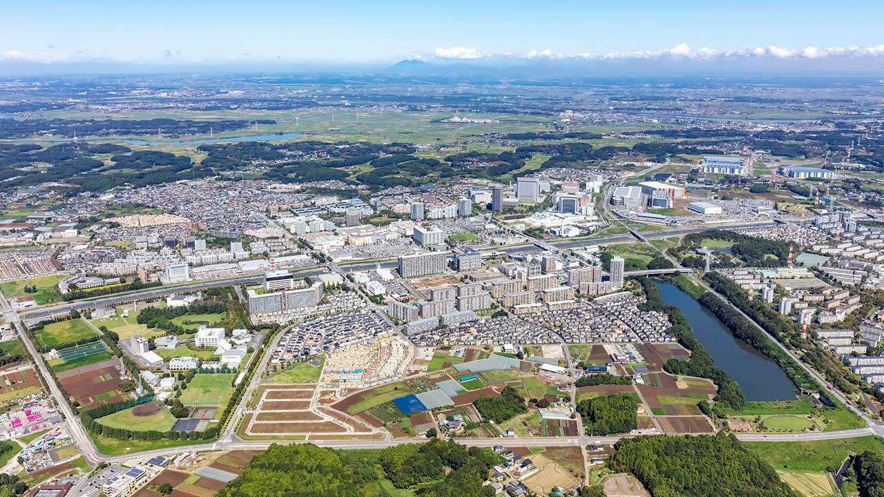 千葉ニュータウンの航空写真