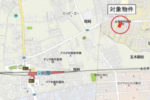 東武アーバンパークライン川間駅近くの物件地図