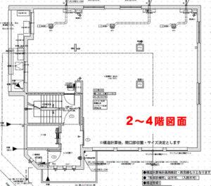 南流山メディカルスクエアの2〜4階間取りイメージ