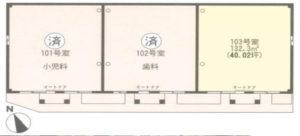 高津医療モールの開業スペース間取り