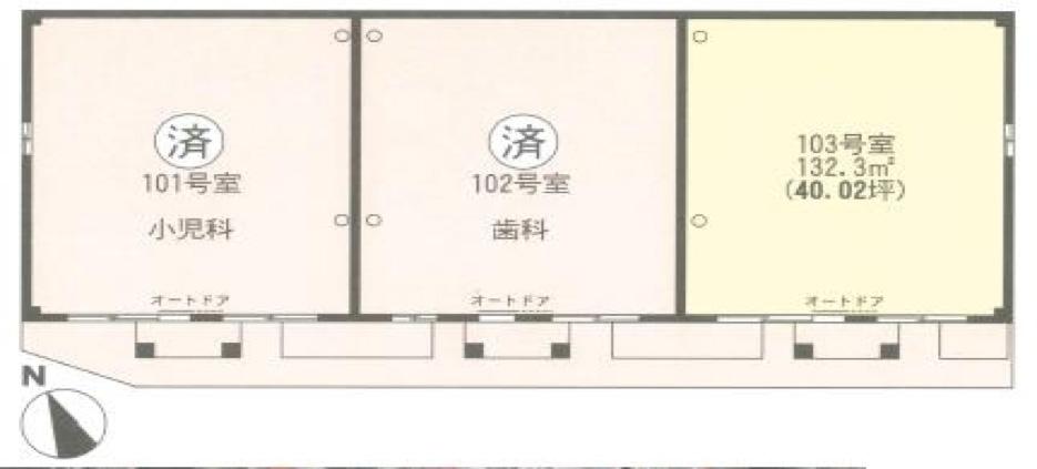高津医療モールの間取り図