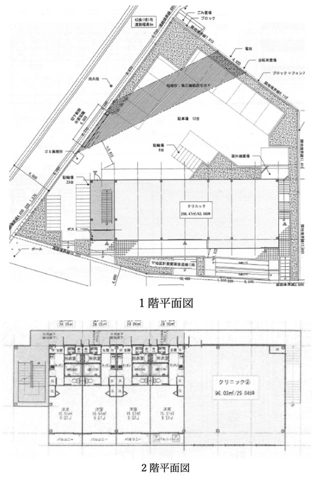 高柳駅西口ロータリー隣接のテナント物件の間取り図