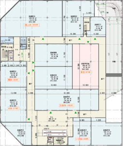 千葉NT中央駅 北口ロータリー医療モールの間取り図