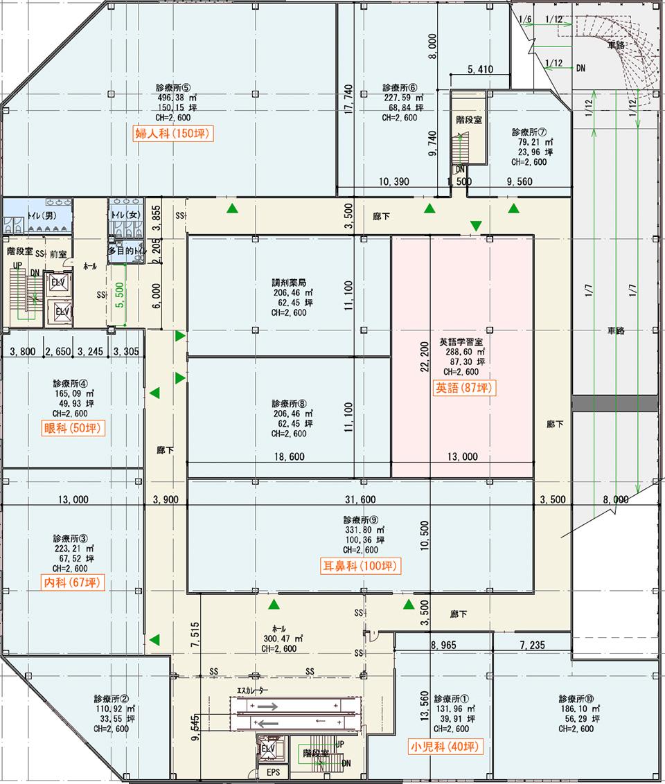 千葉ニュータウン中央駅 北口ロータリー医療モールの間取り図