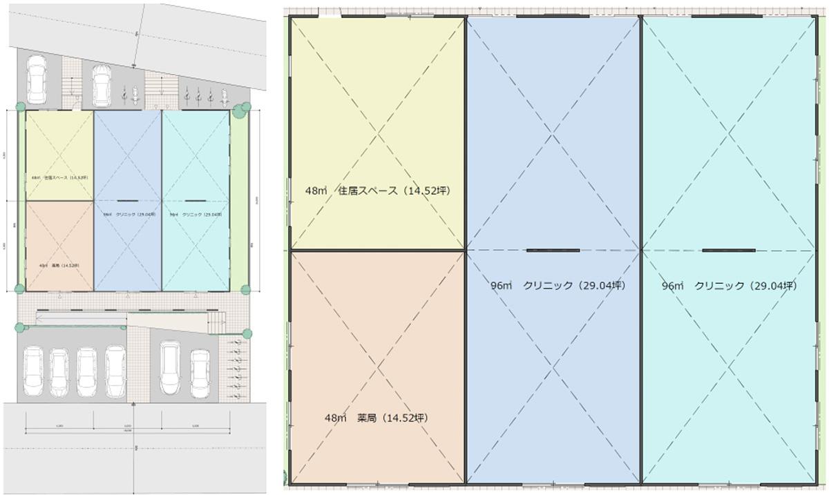 (仮称)八千代市勝田台北メディカル計画の間取り図