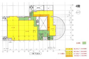 京成津田沼駅ビル4階物件の間取り図