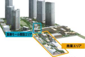 (仮称)海浜幕張メディカルセンターのエリアイメージ